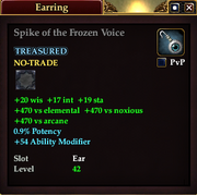 Spike of the Frozen Voice