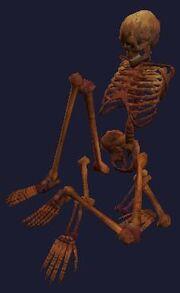 A tortured ogre skeleton (Visible)