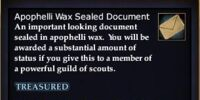 Apophelli Wax Sealed Document