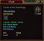 Cloak of the Sandmage