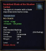 Scratched Blade of the Shadow Lurker