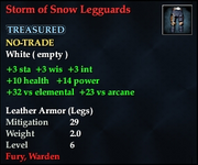 Storm of Snow Legguards
