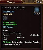 Glowing Glyph Katana