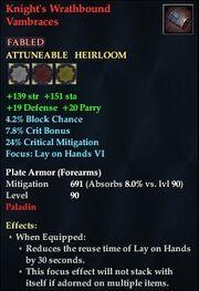 Knight's Wrathbound Vambraces