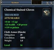 Chemical Stained Gloves