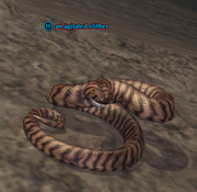 An agitated slither