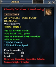 Ghostly Sabatons of Awakening