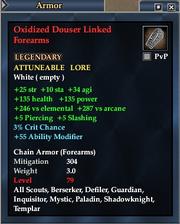 Oxidized Douser Linked Forearms