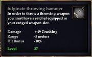 Fulginate throwing hammer