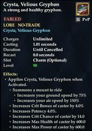 Crysta, Velious Gryphon