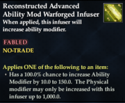 Reconstructed Advanced Ability Mod Warforged Infuser