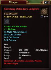 Snowfang Defender's Longbow