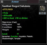 Sootfoot forged sabatons