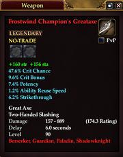 Frostwind Champion's Greataxe