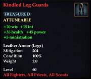 Kindled Leg Guards