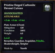 Carbonite Devout Cuirass