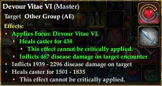 Devour Vitae Effect