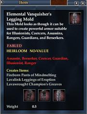 Elemental Vanquisher's Legging Mold