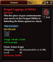 Ringed Leggings of Militia Service
