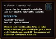 An elemental essence well