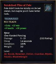 Scratched Pike of Fate