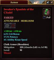 Invoker's Epaulets of the Citadel