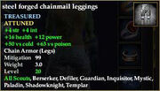 Steel forged chainmail leggings