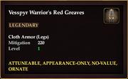 Vesspyr Warrior's Red Greaves