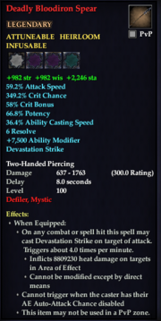Deadly Bloodiron Spear
