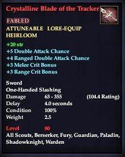 Crystalline Blade of the Tracker