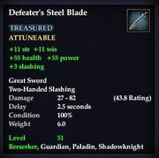 Defeater's Steel Blade