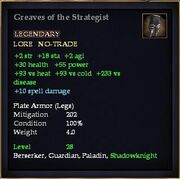 Greaves of the Strategist