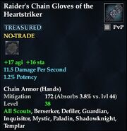 Raider's Chain Gloves of the Heartstriker