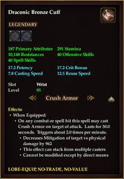 Draconic Bronze Cuff