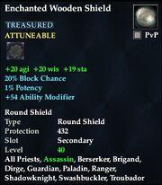 Enchanted Wooden Shield