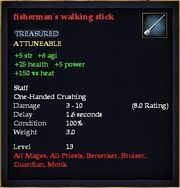 Fisherman's walking stick