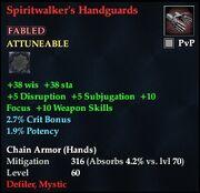 Spiritwalker's Handguards (Fabled)