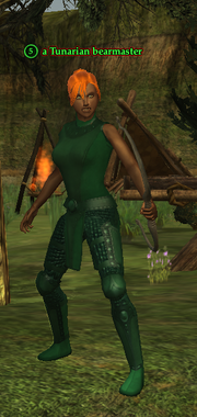 A Tunarian bearmaster (human)