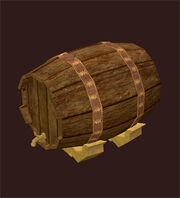 Iron-bound-maple-keg