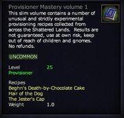 Provisioner Mastery volume 1