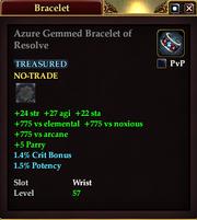Azure Gemmed Bracelet of Resolve