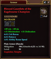 Blessed Gauntlets of the Ragebourne Champion
