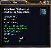 Gemstone Necklace of Foreboding Contention