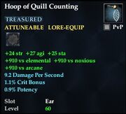 Hoop of Quill Counting