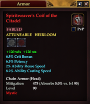 Spiritweaver's Coif of the Citadel
