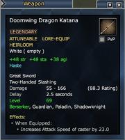 Doomwing Dragon Katana