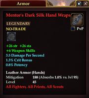 Mentor's Dark Silk Hand Wraps