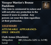 Vesspyr Warrior's Bronze Pauldrons