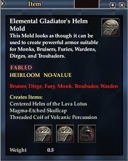 Elemental Gladiator's Helm Mold