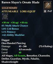 Barren Slayer's Ornate Blade